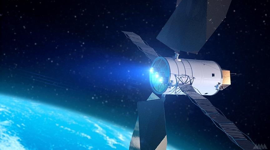 Un tipo original de propulsión para cohetes y satélites.
