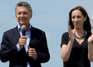 El Presidente de la Nación y la gobernadora bonaerense