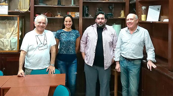Los autores del estudio Alberto Capparelli, Nasly Delgado, Damián Marino y Agustín Navarro, científicos de la Universidad Nacional de La Plata.